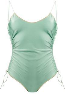 Oséree Maiô Com Costura Básica - Verde