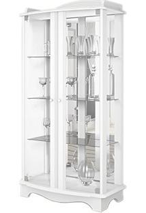 Cristaleira Charme 02 Portas Com Vidro Branco Acetinado - Imcal