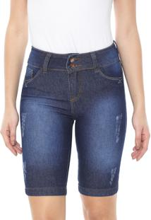 Bermuda Jeans Grifle Company Reta Estonada Azul