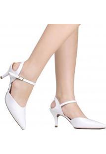 Sapato Vizzano Chanel Noivas Bico Fino Verniz