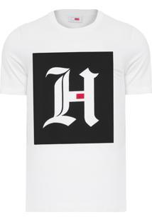 Camiseta Masculina Box Logo - Off White