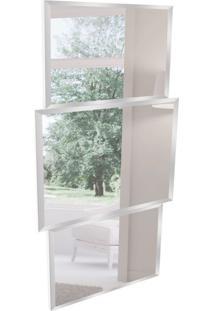 Espelho Decorativo Sorrento 70X130 Cm Branco