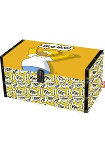Baú Trevisan Simpsons Homer P Amarelo/Branco