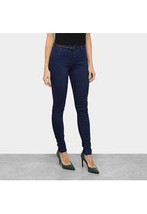 Calça Jeans Biotipo Skinny Lisa Cintura Média Feminina - Feminino