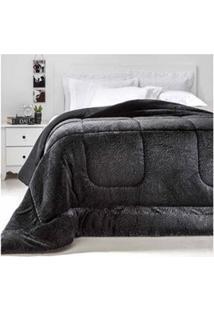 Cobertor King Size Em Poliéster Duoblanket Preto - Kacyumara