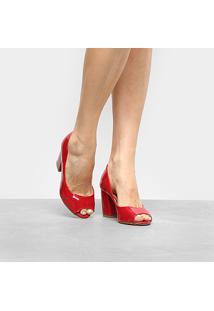 50ea69d4d Peep Toe Com Salto Vermelho feminino | Gostei e agora?