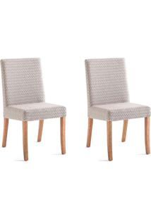 Conjunto Com 2 Cadeiras De Jantar Alberta Marrom E Castanho
