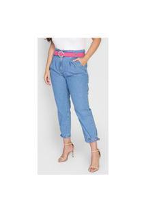 Calça Jeans Dimy Mom Clochard Azul