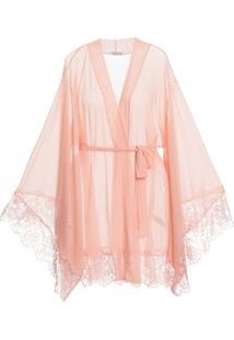 Robe Curto Manga Longa Tule Passione Rosa- U