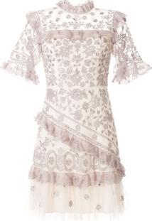 Needle & Thread Vestido Com Aplicação De Babados - Roxo