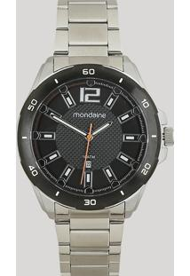 Relógio Analógico Mondaine Masculino - 53704Gpmvce2 Prateado - Único