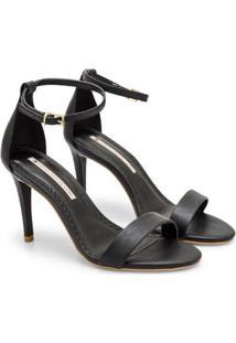 Sandália Sapatinho De Luxo Salto Fino Napa Dubai Feminina - Feminino-Preto