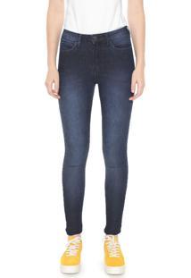 Calça Jeans Calvin Klein Jeans Skinny Estonada Azul-Marinho