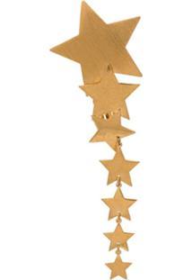 Saint Laurent Brinco Único Com Estrelas - Metálico