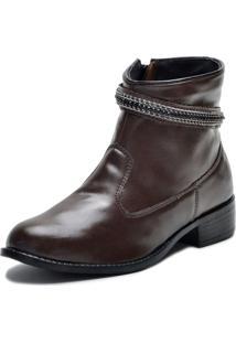 Bota Elegancy Ankle Strapcircle70 Cafe - Tricae