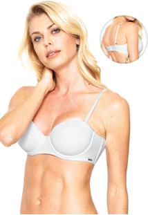 Sutiã Calvin Klein Push-Up Básico Branco