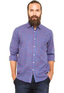 Camisa Mr Kitsch Quadriculada Azul