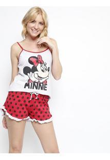 Short Doll Minnie®- Vermelho & Cinzaevanilda