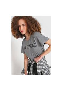 Camiseta Colcci La Femme Cinza