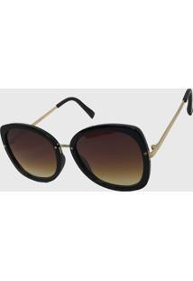 Oculos De Sol Feminino Quadrado Volpz Milao Marrom