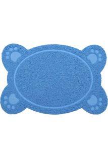 Tapete Patas Dog- Azul & Azul Claro- 60X40Cm- Kakapazi