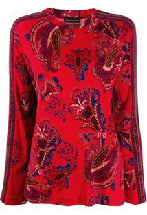 Etro Blusa Com Estampa Paisley - Vermelho