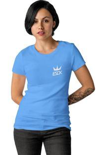 Camiseta Feminina Ezok King Azul Claro