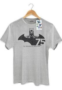 Camiseta Bandup! Batman 75 Anos Tracing - Masculino-Cinza