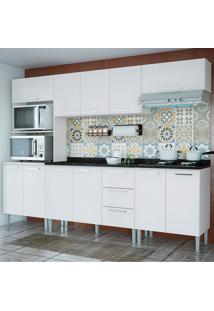 Cozinha Bianca 0430T 11 Portas C/ Tampo – Genialflex - Branco