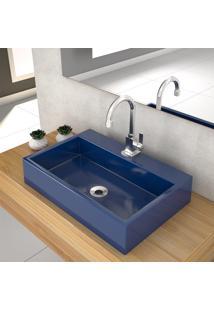 Cuba De Apoio P/Banheiro Compace Florenza Q550W Azul Escuro