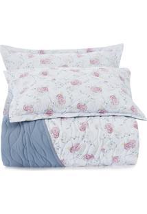 Jogo De Colcha Queen Altenburg All Design New Poliéster Soft Garden – Azul Azul - Tricae