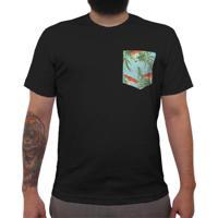 Camiseta Aberta Azul masculina  1b46ce3f481