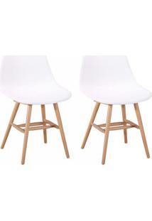 Conjunto Com 2 Cadeiras Eames Jade Branco