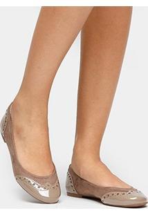 Sapatilha Shoestock Brogues Verniz - Feminino