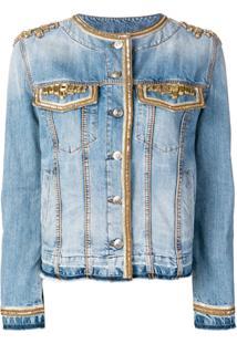 Ermanno Scervino Jaqueta Jeans Com Aplicações - Azul