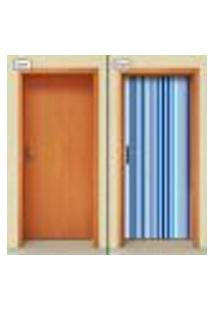 Adesivo Decorativo De Porta - Listras - 1645Cnpt