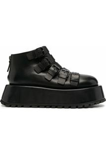 Marsèll Ankle Boot Plataforma Com Fivela - Preto