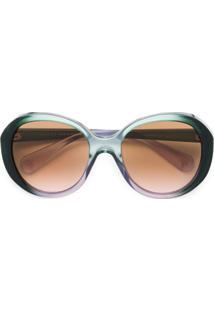 Gucci Eyewear Óculos De Sol Degrdê - Verde