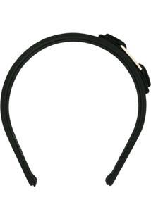 Salvatore Ferragamo Headband Com Aplicação De Laço - Preto