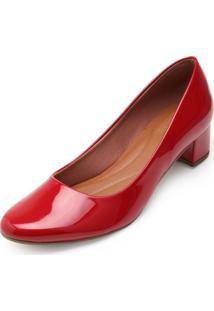 Sapato Sense Rio Salto Baixo Za19-2001 Vermelho - Kanui