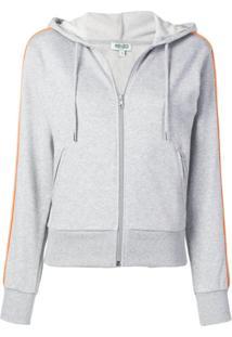 Kenzo Zipped Hooded Jacket - Cinza