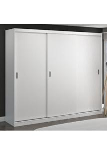 Guarda-Roupa Casal 3 Portas De Correr 100% Mdf 7318 Branco - Foscarini