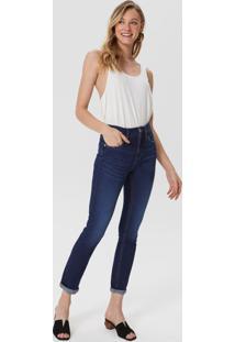 Calça Jeans Skinny Puídos Boca De Bolso