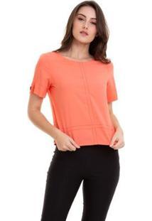 Blusa Viscose Lisa Costura Feminino - Feminino