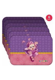 Jogo Americano Alegra - Produto Licenciado Kit Com 6 Pçs