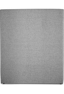 Cabeceira Solteiro Édez Serena, Estofada, 120 X 93 X 10 Cm, Linho Cinza