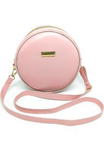 Bolsa Redonda Feminina Lisa Mini Bag Transversal - Rosa - Feminino - Dafiti