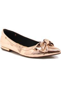 Sapatilha Zariff Shoes Laço Dourado