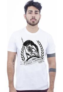 Camiseta Hardivision Esparta Manga Curta - Masculino-Branco