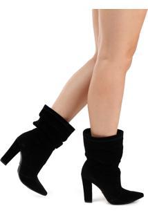 Ankle Boots Salto Grosso Lara Bico Fino